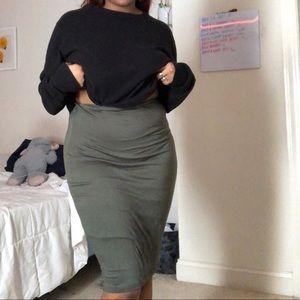 Dresses & Skirts - Army Green, Knee Length Skirt